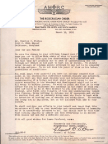 Letter by Clement B. LeBrun (March 15, 1935)