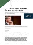 Quarles_ Fed Would Recalibrate ESLR if Crapo Bill Passes - Risk.net
