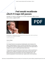 Quarles_ Fed Would Recalibrate ESLR if Crapo Bill Passes - Risk.net