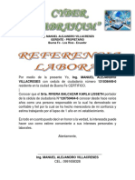 Ing Referencia Laboral