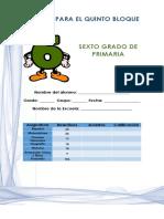 Examen 6° Grado Bloque 5