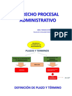 Plazos y Terminos en El Procedimiento Administrativo