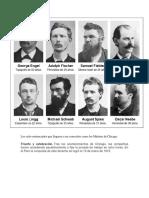 Los Ocho Sentenciados Que Llegaron a Ser Conocidos Como Los Mártires de Chicago