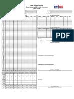 New Item Analysis Form (60 Items)