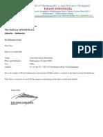 Surat Permohonan Visa Ke Korea Selatan