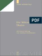 Georg Wohrle (Ed.), Gotthard Strohmaier (Contributor)-Die Milesier_ Thales (2009)