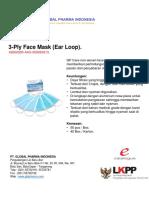 Face Mask (Ear Loops)