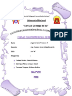 Fabricacion de Fibras Elastomericas(Spandex) -Final
