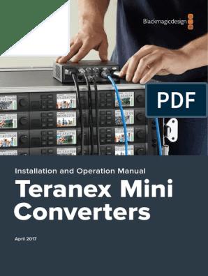 Teranex Mini Manual Hdmi Digital Audio