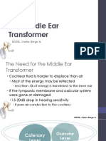 The Middle Ear Transformer