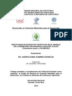 Efectividad de Extractos Vegetales en El Manejode La Moniliasis Moniliophthora Roreri Del Cacao Theobroma Cacao l. en México Sandra Ramírez González