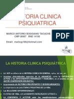 CLASE N° 1  HISTORIA CLINICA PSIQUIATRICA Z (SG) 26 02 2018