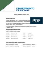 Programa Inglés General 1 2018 May Ed