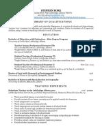 sjb ed resume