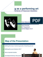 Teaching as a Performing Art