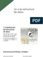 1.1Clasificación de Estructuras de Datos