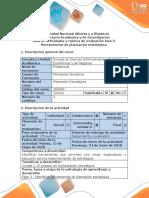 Guia de actividades y  rúbrica de evaluación Fase 3  Herramientas de planeación estratégica