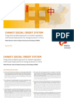CHINA'S SOCIAL CREDIT SYSTEM A big-data enabled approach to market regulation with broad implications for doing business in China