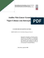 Análise Não-Linear Geométrica de Vigas-Colunas com Interação Parcial