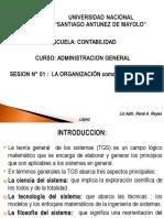 ORGANIZACION como SISTEMA 1.ppt