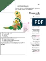 Lectura Matutina 2018 El Sapo Verde