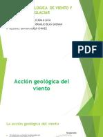 Accion Geologica de Viento y Glaciar