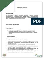 Informe de Ensayo de Flexion