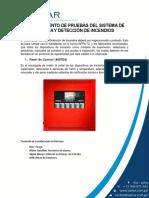 Procedimiento de Pruebas Del Sistema de Alarma y Detección de Incendios