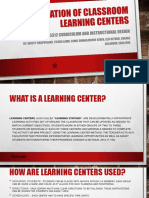 learning centers within a classroom