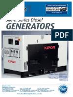 Kipor KDE Silent Generator