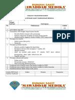 Ceklist Kriteria Transfer Pasien