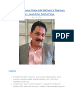How Can Your Career Shape After Bachelor of Pharmacy Degree – Learn From Sunil Acharya