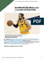 Playoffs NBA 2018_ Jazz vs Thunder_ Mitchell (38) elimina a los Thunder pese a la lesión de Ricky Rubio _ Marca.com