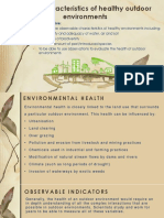4.1.2- Observable Characteristics of Healthy Outdoor Environments- Student