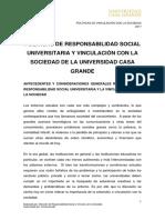 Propuesta Políticas y Reglamento de la Responsabilidad Universitaria y Vínculo con la Comunidad de la UCG.doc