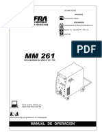 Soldadora Microalambre Infra Mm261 Manual de Operacion