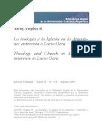 Teologia Iglesia Argentina Lucio Gera