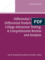 Researchreport 2001 6 Differential Validity Prediction College Admission Testing Review