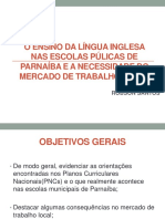 Slides o Ensino Da Língua Inglesa Nas Escolas Púlicas