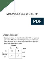 Menghitung Nilai or, RR, RP
