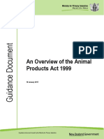 GD an Overview of the Animal Products Act 1999 20180116
