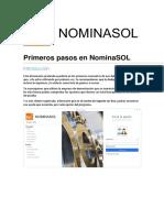 NominaSOL - primeros pasos