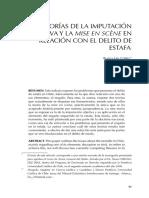 La Teoría de La Imputación Objetiva y La Mise en Scène en Relación Con El Delito de Estafa
