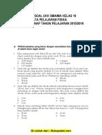 Soal UKK Fisika SMA Kelas 10