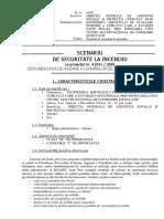 SCENARIU DE SECURITATE LA INCENDIU - D + P + 1E + M