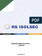 Catalogue Des Transformateurs de Mesure RS Isolsec Francais