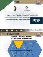 Materi Paparan Pondasi Konstruksi Sarang Laba-laba (KSLL) – 28 Mei 2015