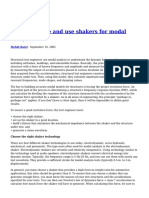 How to Choose and Use Shakers for Modal Analysis