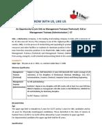 SAIL Management Trainee - Full Advertisement.pdf