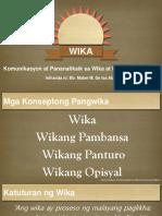 Wika, Wikang Panturo, Wikang Pambansa, Wikang Opisyal